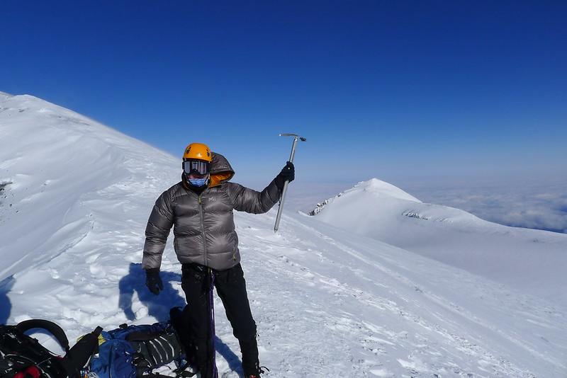 Look Back at Climbing MountRainier